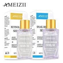 AMEIZII Retinol 2.5% Serum Snail Repair Whitening Lift Firming Face Skin Care Essence Hyaluronic Acid Anti-Aging Moisturizing