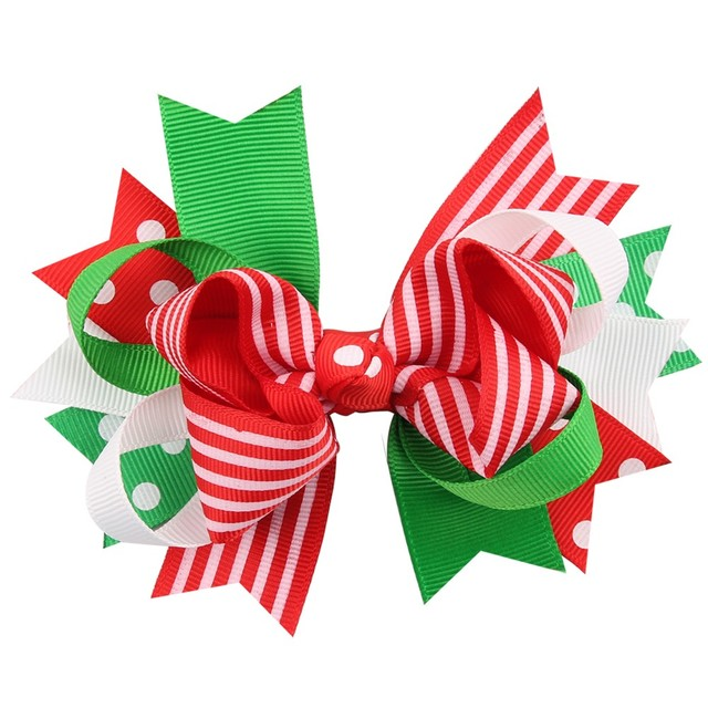 30 pcs lot handmade grosgrain ribbon christmas hair bow with