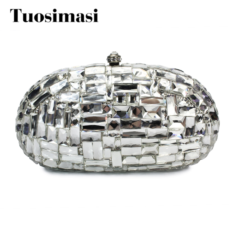Bling Silver Rhinestone crystal diamond fashion luxury women day clutch small purse bag with shoulder chain shoulder bags цена и фото