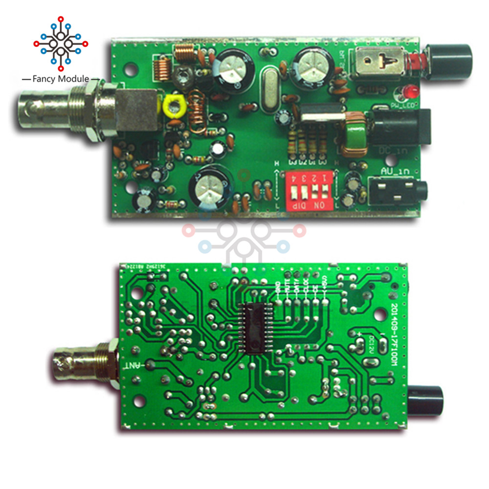 Bh1417f Fm Radio Transmitter Module 5v 12v Pll Stereo Digital Tracking Schematics Station Diy In Instrument Parts Accessories From Tools On Alibaba