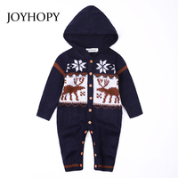 Wholesale 2018 Autumn Knitted Baby Boys Girls Clothes Set Long Sleeve Fashion Fawn Newborn Baby Romper