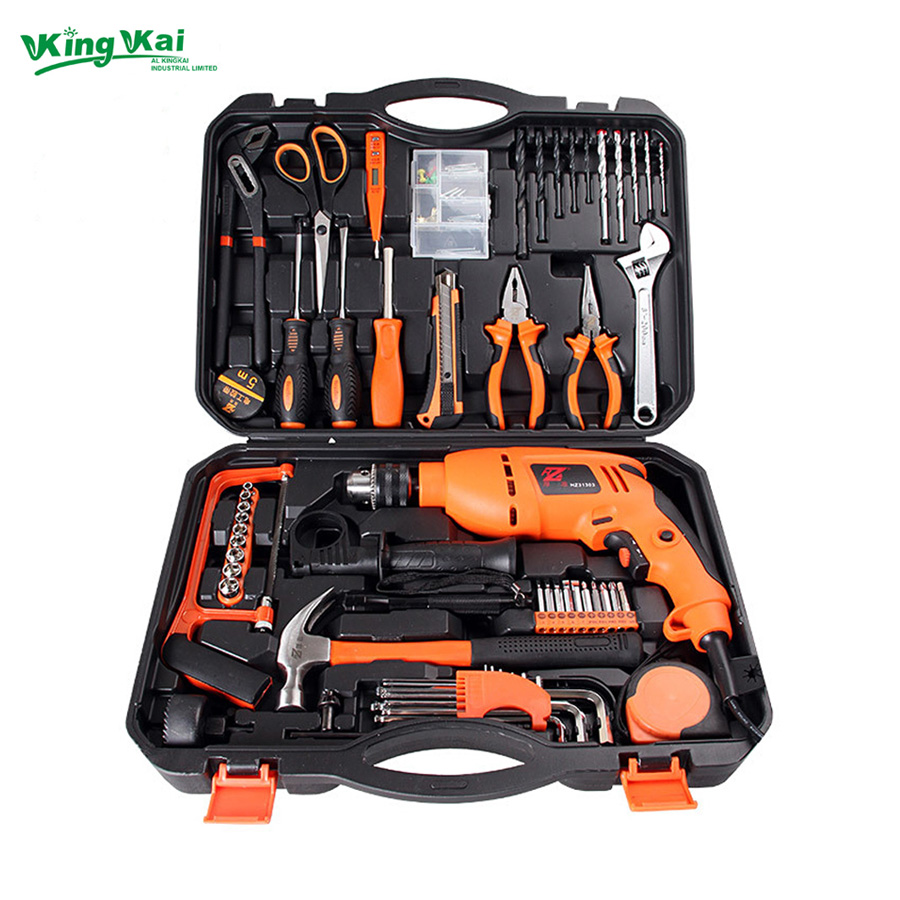 125 piece multifunctional hardware tools in hand tool sets with electric drill screwdriver hack. Black Bedroom Furniture Sets. Home Design Ideas
