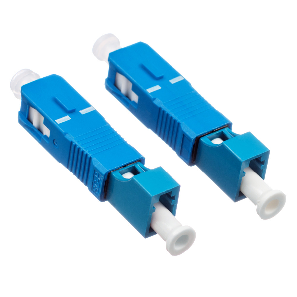 Free Shipping 2 Pcs SC Male To LC Female Fiber Optic Adapter SC-LC