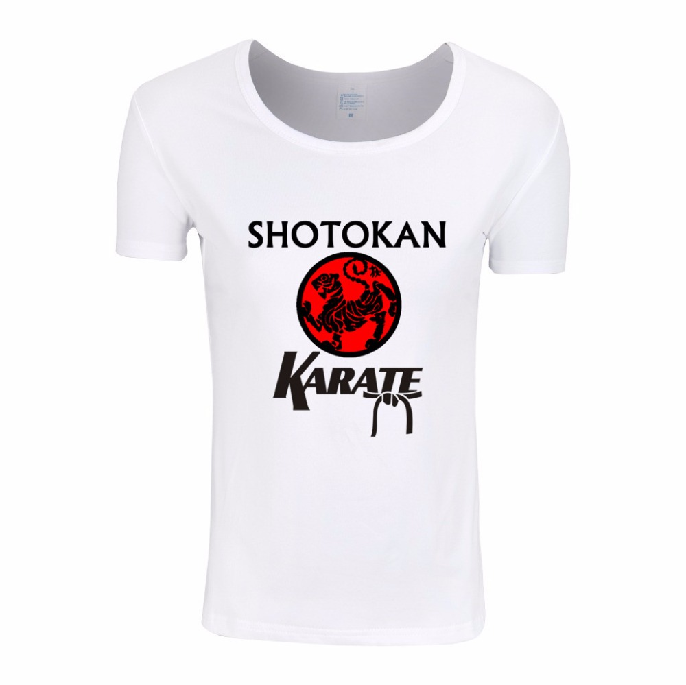 Asian Size,Women Japanese Kanji Shotokan Karate Anime T-shirts Female Cartoon Tops Tee Women Brand Clothing,HWP718