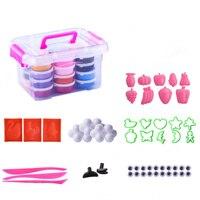 Super léger argile 24 couleur costume enfants BRICOLAGE jouet en argile à modeler boue cristal 3C certification Jouets Cadeau pour les Enfants