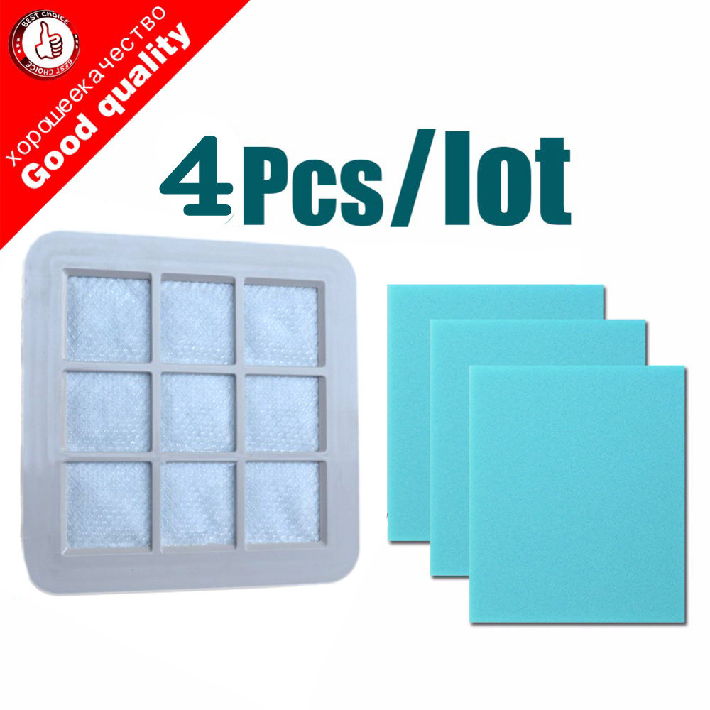 1pc Vacuum Cleaner Spare Parts HEPA Filter+3pcs Cotton for Philips FC5226 FC5228 FC5822 FC5225 FC5823 FC5826 FC5828 FC5830 high quality vacuum cleaner air inlet filters washable efficient filter vacuum cleaner parts fc5823 fc5826 fc5828 30