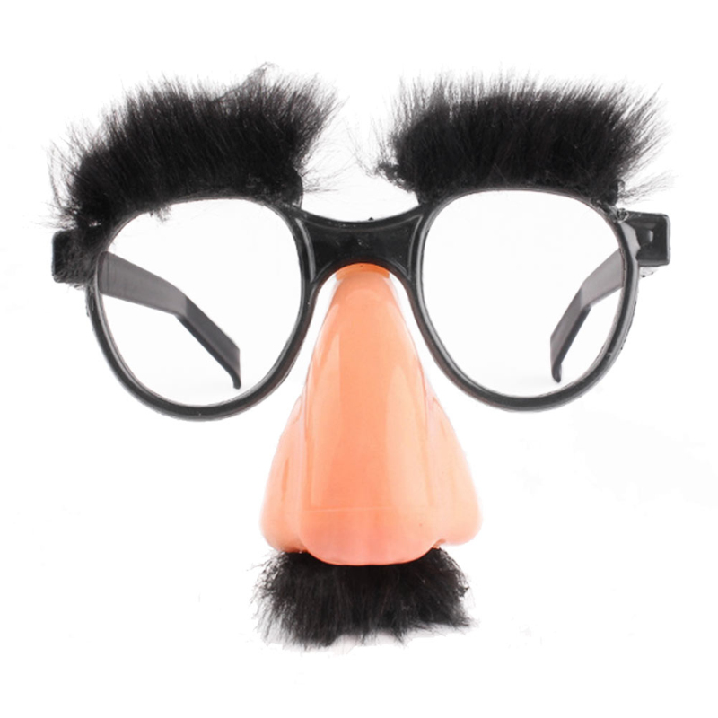 1pc halloween mustache fake nose eyebrow clown costume props funny halloween decoration glasses party cosplay accessories - Costume Props