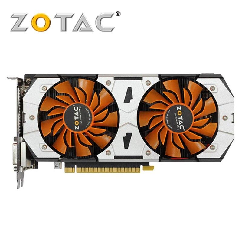 D'origine GTX 750Ti 2G ZOTAC Carte Vidéo GeForce GPU GTX 750 Ti 2 GB GM107 128Bit GDDR5 Carte Graphique Carte Pour nVIDIA GTX750Ti 2GD5