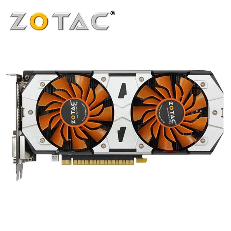PLACA De Vídeo ZOTAC GeForce GTX originais 750Ti 2G 2 GB GM107 128Bit GDDR5 GPU GTX 750 Ti Placa Gráfica mapa Para nVIDIA GTX750Ti 2GD5