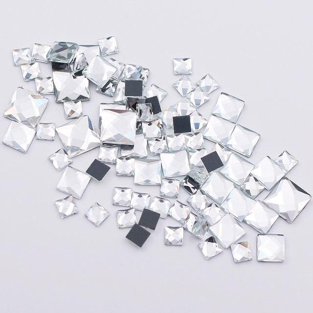 Online Shop 130pcs lot 4mm 6mm 8mm 10mm Square Shaped Black clolor ... 1c285c05f6e8