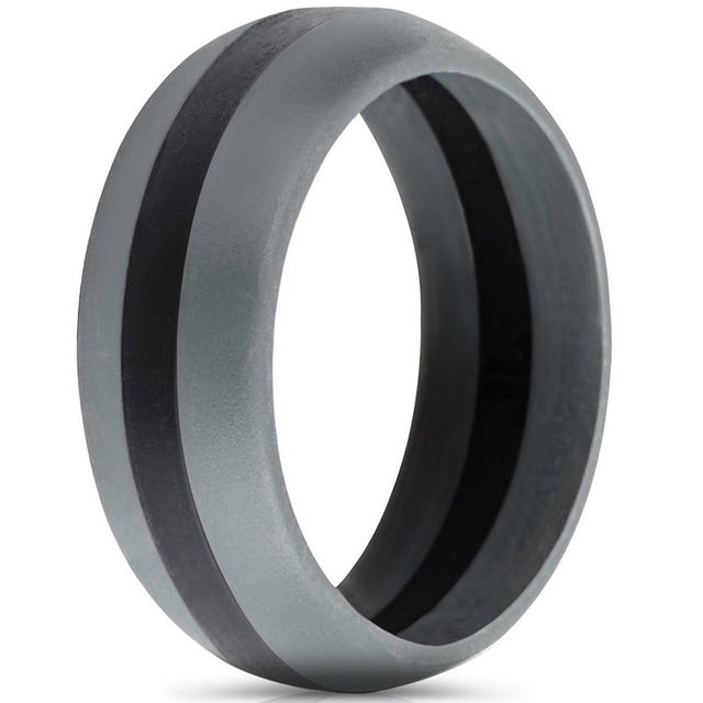 9MM Multi Color Hypoallergenic Crossfit Flexible Silicone Rubber Wedding Bands for Women – Size 5-15