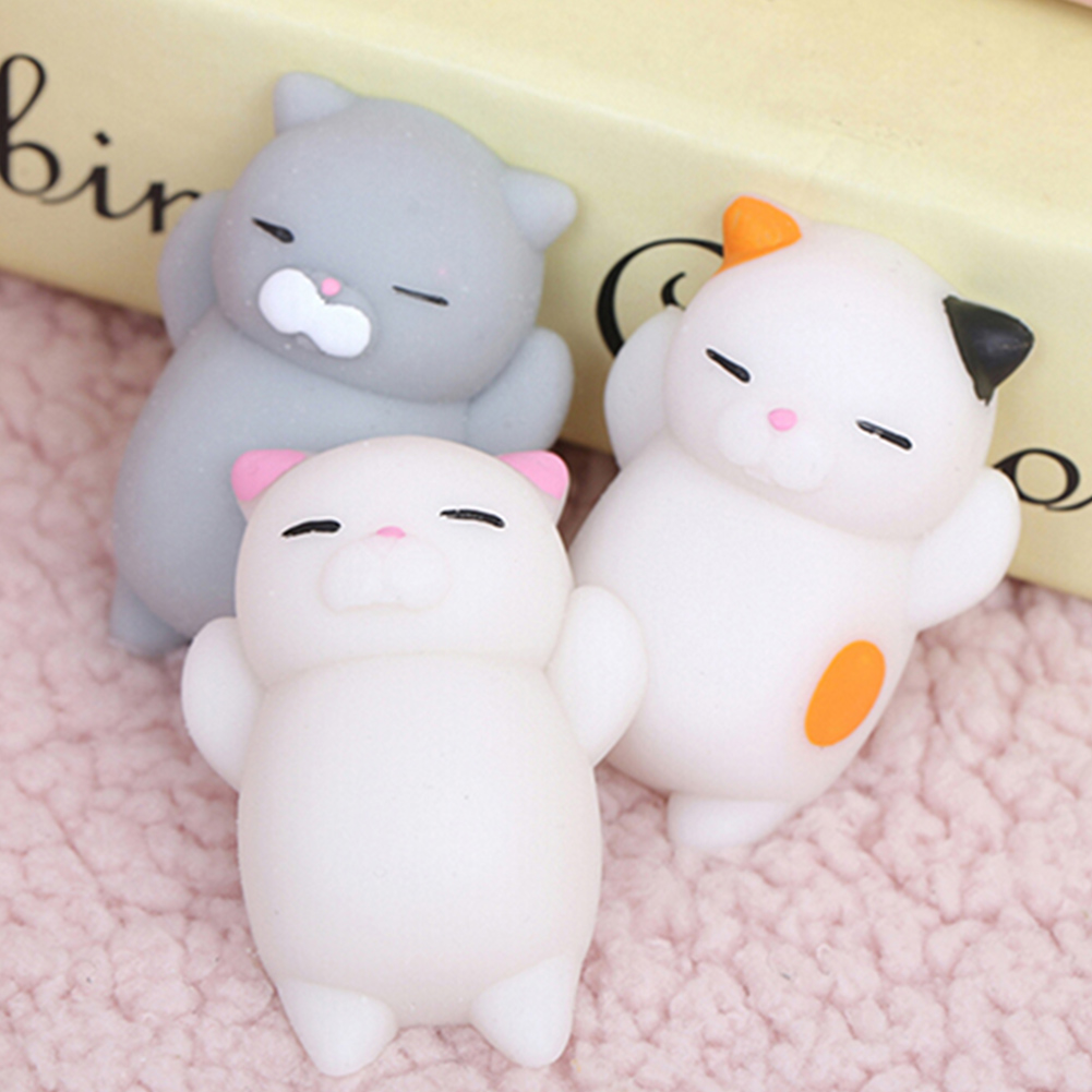 Vitoki 10Pcs Squishy Lazy Sleep Cat Mini Mochi Squeeze Healing Fun Anti Stress Puzzle Kid Squishy Toy Gift Free Shipping