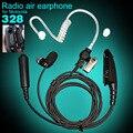Tubo de ar fone de ouvido Anti radiação Earphone Mic para Motorola Walkie Talkie GP328 GP338 GD380 GP340 HT750 HT1250 fone de ouvido acessó