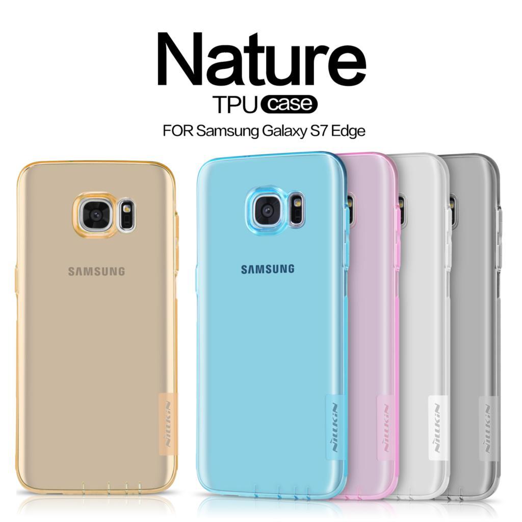 Galleria fotografica sFor Samsung Galaxy S7 Edge Case Nillkin Nature Series Back Cover Clear Transparent Soft TPU Case For Samsung Galaxy S7 Edge