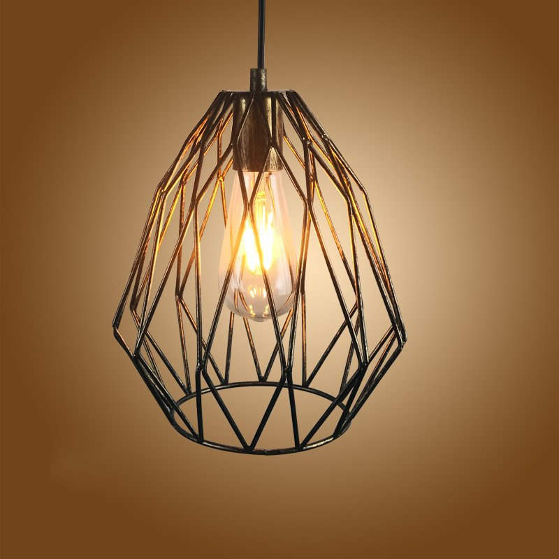 Vintage industrial wind bird cage Pendant Lights creative personality E27 iron art Loft Pendant lamps for Restaurant Coffee Bar loft style vintage pendant lamp iron industrial retro pendant lamps restaurant bar counter hanging chandeliers cafe room