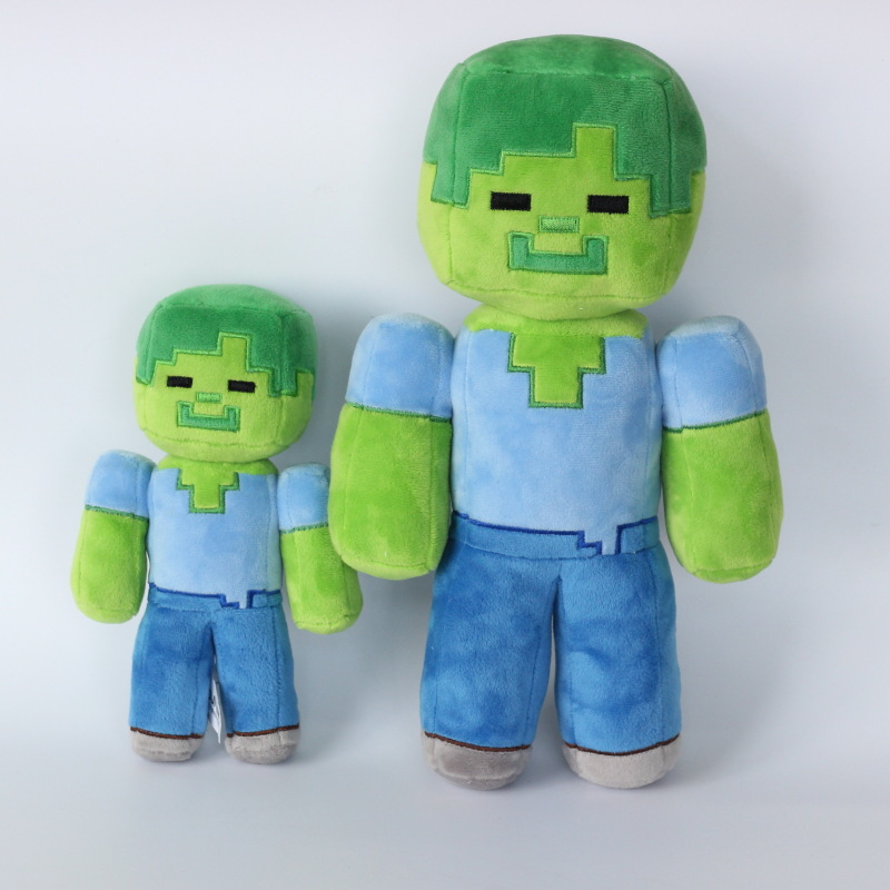 цены New Juguetes Kids Toys Minecraft Plush Toys MC Zombie Steve Plush Toys Creeper Doll Soft Cheap Minecraft Doll For Children Gift