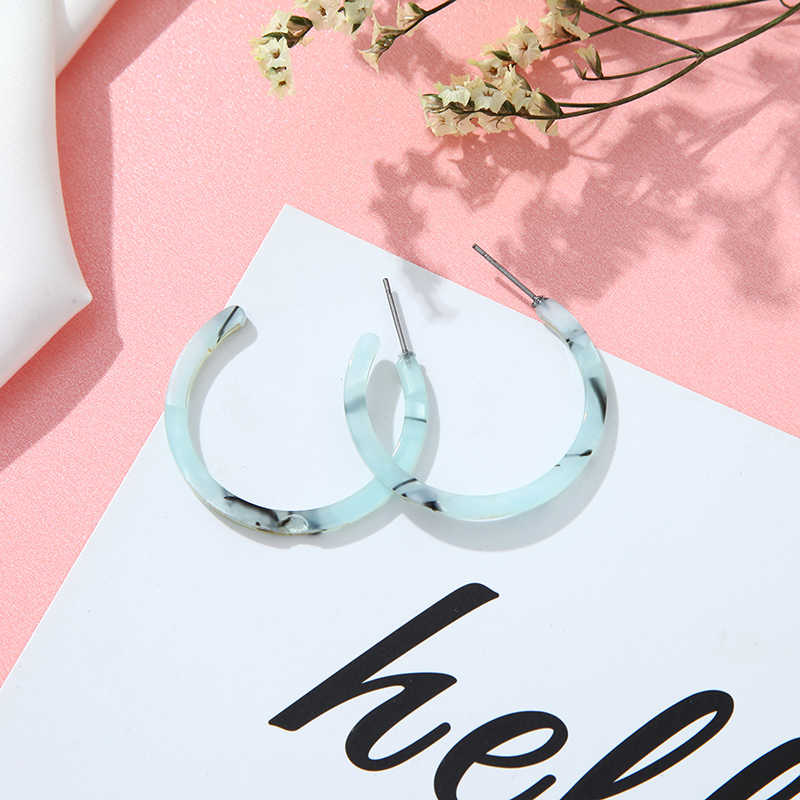 女性のイヤリングヴィンテージカラーヒョウアセテート幾何要素イヤリング結婚式のパーティー · ガールジュエリー