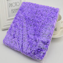 144pcs 2cm MINI foam roses for home Wedding fake Flower Decora Scrapbooking diy wreath gift box cheap Artificial Flower Bouquet(China)