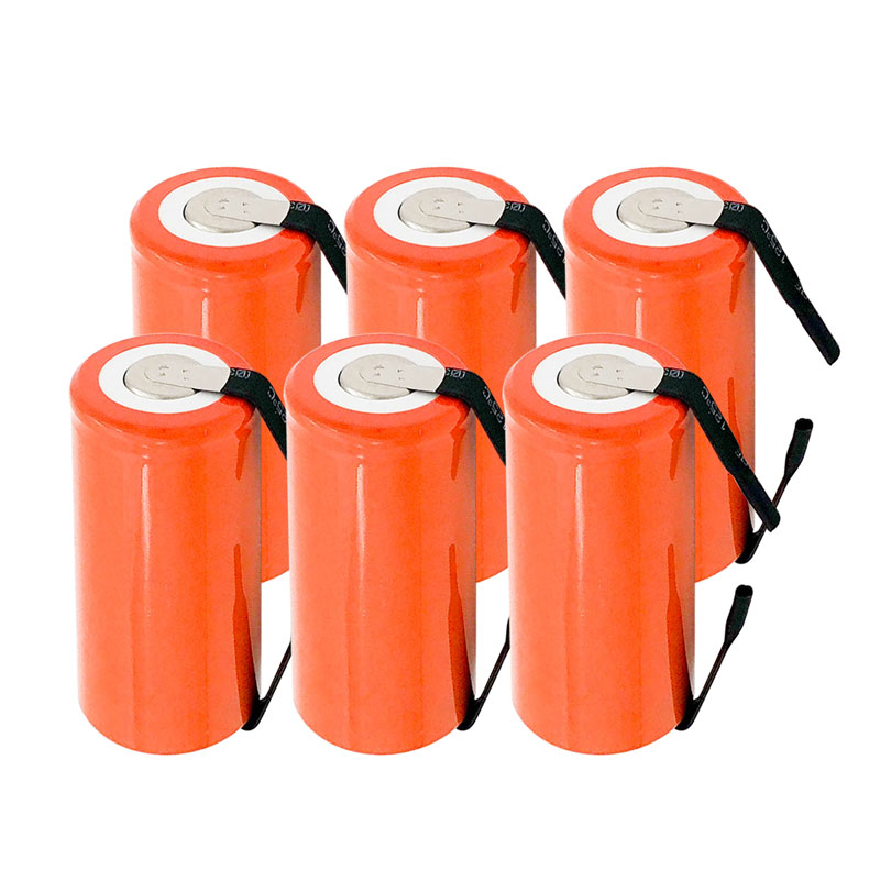 6pcs <font><b>NI</b></font>-<font><b>CD</b></font> SC battery 2800mAh rechargeable subc battery <font><b>1.2</b></font> <font><b>v</b></font> with tab for makita for dewalt for bosch image