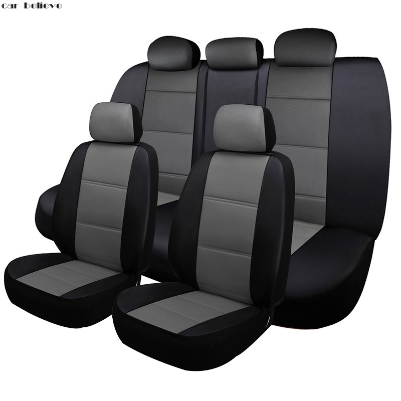 все цены на Car Believe Universal leather Auto car seat cover For mazda cx-5 mazda 3 6 gh 626 cx-7 demio car accessories seat covers онлайн