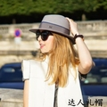 2017 autumn and winter fashion m letter flat small woolen fedoras jazz hat