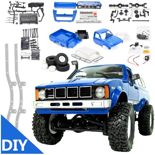 WPL C24 DIY Radio Controlled Cars Off Road RC Car Parts 1:16 RC Crawler Military Truck Body Assemble Kit Electric Car Conversion wpl b16 b 16 off road rc military truck wpl upgrade kit diy 1 16 rc car buggy rc wpl monster truck 6 wheel assemble crawler