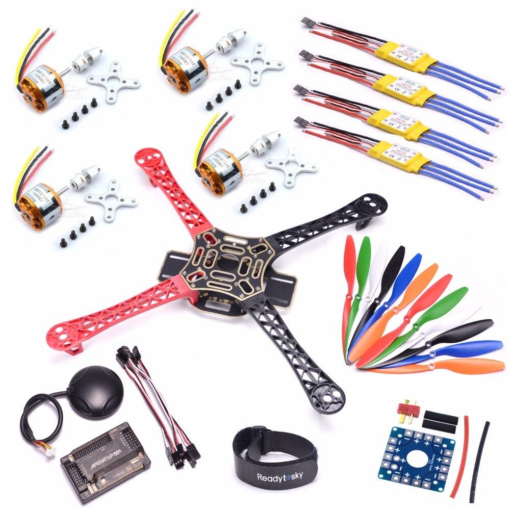 F450 Quadcopter Rack Kit Рамки APM2.6 и 6 м GPS XXD 2212 1000kv HP 30A 1045 Пропеллеры