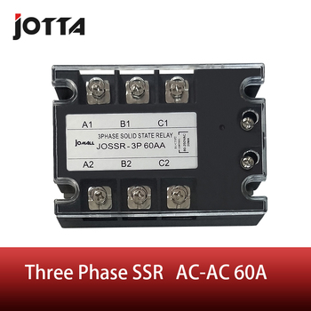 цена на SSR-60AA 60A AC control voltage 80-250VAC  SSR three phase Solid state relay