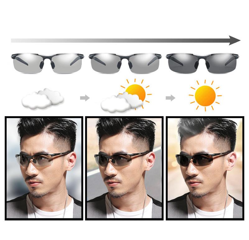De alumínio E Magnésio óculos de sol Fotocromáticas mudança de cor ... ce95e3a2f7