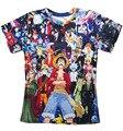 Verão mulheres / homens t-shirt dos desenhos animados impressão de uma peça de animação de gráficos Harajuku 3d t camisa Casual plus size S-3XL