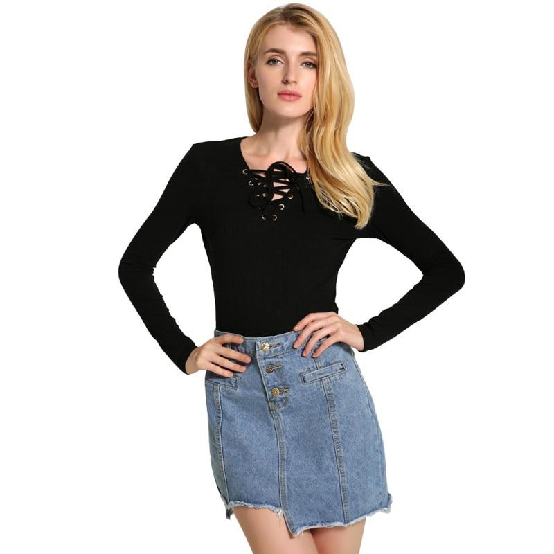 Nueva Primavera Moda de Manga Larga Pullover Informal Suéter de Punto Camisa de