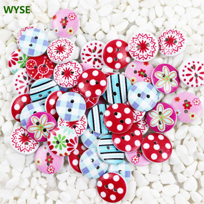 200pcs Stripe Wooden sewing palm shape buttons 2-holes Mixed scrapbooking 18mm