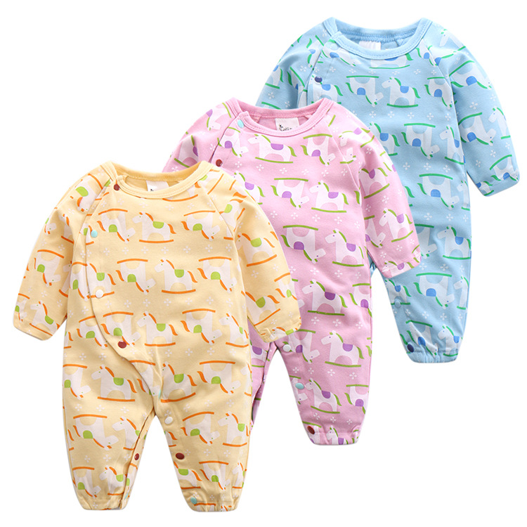 Baby Unicorn Clothing Cartoon Print Newborn Children Rompers for Boy Fashion Autumn Infant Baby Girl Boys Clothes for 6-18M 9 12m baby boy set monkey print clothes for children newborn baby boy clothing corduroy 2017 autumn clothes 2pcs boy outwears