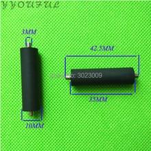 10pcs/lot Konica 512 head pinch roller for wide format printer Allwin Human Xuli Flora KM512 rubber rollers 42.5mm long