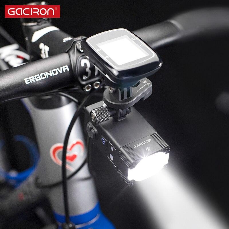 Gaciron интеллектуальные V7S серии 500 800 люмен фонарик для горного велосипеда Go Pro крепление Перезаряжаемые IPX6 велосипедов света для Race