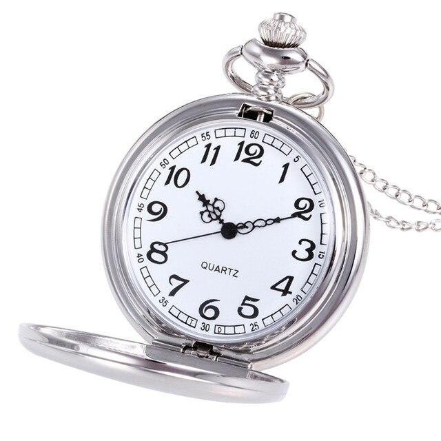 חדש relogio feminino גברים נשים שעונים כתר יוניסקס אופנה ברונזה שרשרת שרשרת כיס שעון horloges mannen Dropship horloge