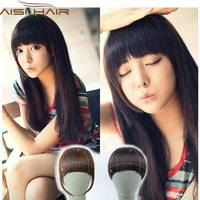 Clip in bangs fake hair extension hairpieces false hair piece clip on front neat bang for.jpg 200x200