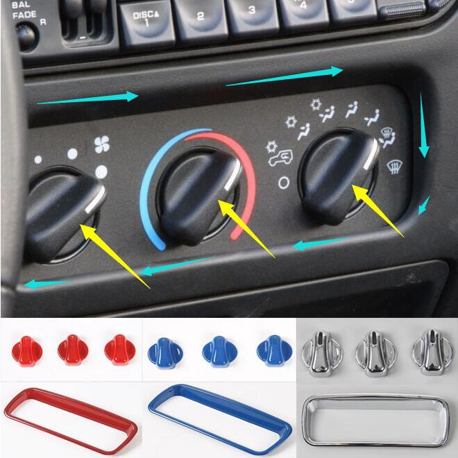 2006 Jeep Wrangler Interior: Newest Air Condition Switch Adjust Button Trim Interior