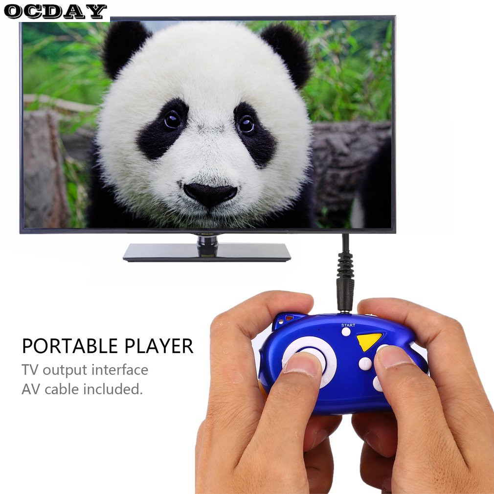 OCDAY Kids Hand Toy MINI Portable 8-bit Handheld Joystick Classic Toy Console For NES Game TV Remote Sensing Output Toys