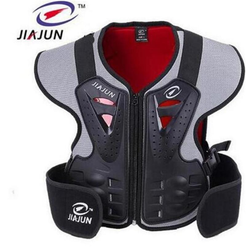 JIAJUN Childrens Professional Armor Vests Motocross Armor Ski Back Support Kids Motorcycle Protective Gear Back Support