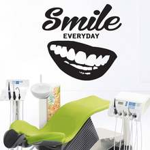 Dental Clinic Quote Wall Decal Dentist Smile vinyl Stickers Teeth clinic Removable Tooth Decor for wall glass windows G576