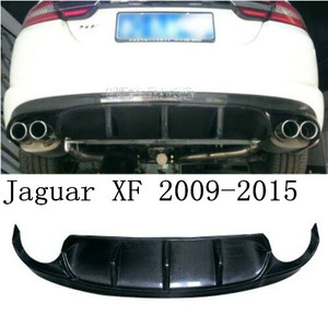 De fibra de carbono alerón para parachoques trasero labio Auto para difusor de parachoques trasero para Jaguar XF 2009, 2010, 2011, 2012, 2013, 2014, 2015