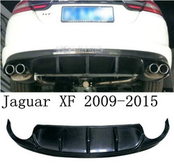 Z włókna węglowego tylny Spoiler zderzaka wargi  auto tylny zderzak samochodowy dyfuzor pokrywa dla Jaguar XF 2009 2010 2011 2012 2013 2014 2015