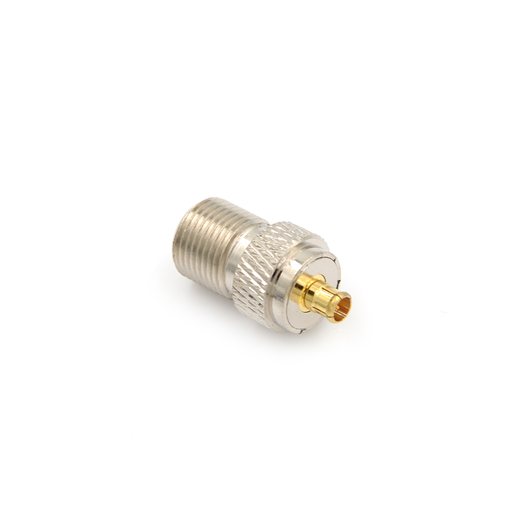 F female jack to MCX male plug RF coaxial RF adapter connector