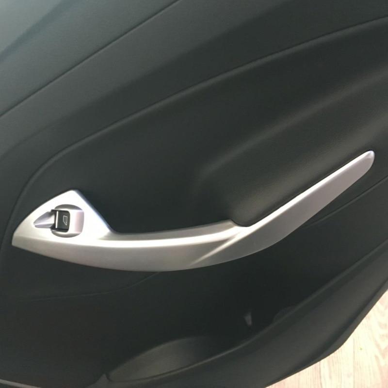 for ford kuga escape 2017 abs matte interior side door armrest cover trim inner auto covers. Black Bedroom Furniture Sets. Home Design Ideas
