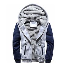 Mens font b Hoodie b font Winter Warm Fleece Zipper font b Sweater b font Jacket
