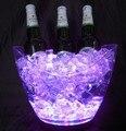 4 Pçs/lote Cor mutável led champanhe balde de gelo-balde balde de gelo luminoso balde lingote, Controlável Cores LED light up Balde de gelo