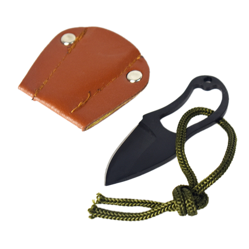 Self-Defense Carry Tool Personal Defense Security Outdoor Camping EDC Multi Function Tool Small Knife With Leather Cover