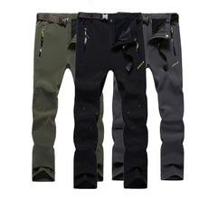 5XL New Men s Winter Hiking Pants Outoor Inside Fleece Thermal Pants Waterproof Windproof Trousers For