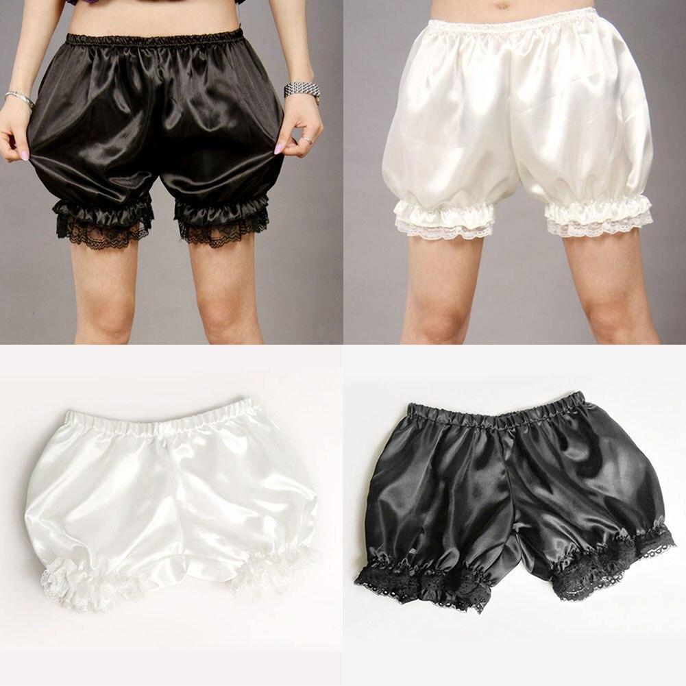 Lolita Cosplay Lace Women Bubble Bloomer Under Pants Safety Shorts Elastic Lantern Shorts